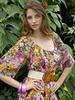 Как носить модное платье в цветочек.