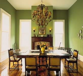 Интерьер в зелёном