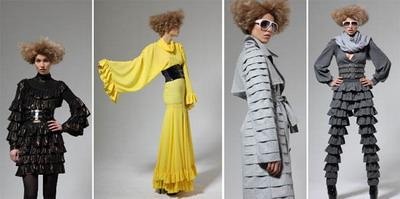 Мода 2008. Потрясающие наряды с воланами от Marcel Ostertag.
