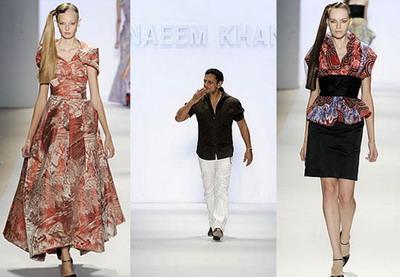 Весенняя коллекция: Наим Хан (Naeem Khan) смешивает восток и запад буйством красок и форм