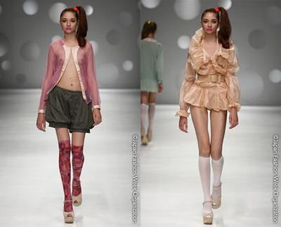 Прозрачные блузы, юбки и жабо – знаковые моменты коллекции весна/лето 2009 от Ritsuko Shirahama