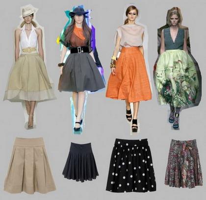 Модные юбки 2009 года с фото.  Модные модели юбок для каждого типа фигуры.