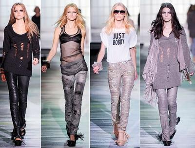 Неделя моды в Милане - джинсы, брюки.