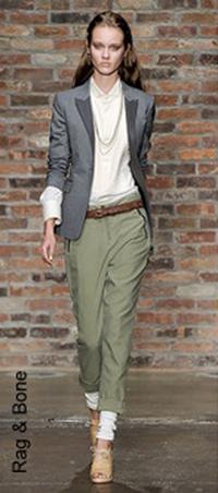 Модные брюки цвета хаки
