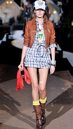 Неделя моды в Милане: показ DSquared2, весна-лето 2010.