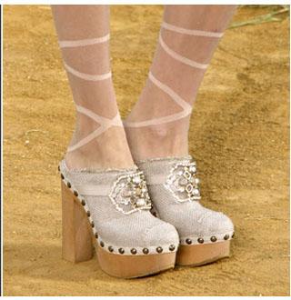 Модный тренд лета 2010 – носки и сабо