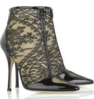 Модный тренд осени 2010: обувь с кружевами