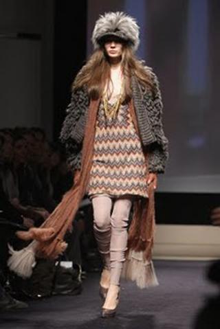 Вязаное пальто для наступающей осени
