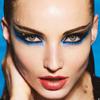 Модный макияж: синий цвет