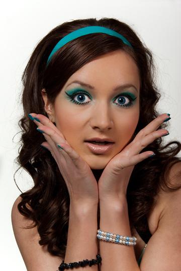 Стиляги макияж для девочек