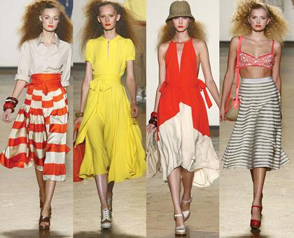 Модная юбка-миди 2011 года
