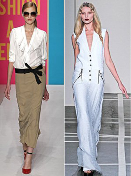 Модные юбки весна 2011
