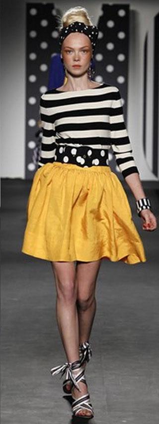 Ретро мода лето 2011 – яркая полоска