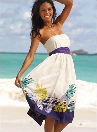 Модные пляжные платья лето 2011