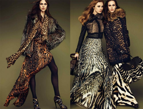 Модная коллекция осень-зима 2011-2012 от Roberto Cavalli