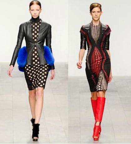 Модные зимние платья 2011-2012