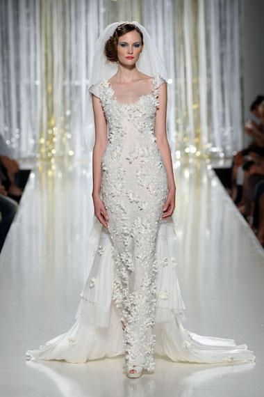 Купить или заказать Изумительное свадебное платье шифон, кружево. Ключевые слова