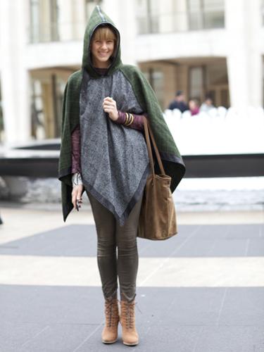 Модный тренд зимы 2012 – пончо