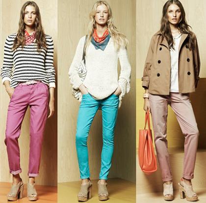 Актуальные джинсы сезона весна 2012 года: фасоны и цвета