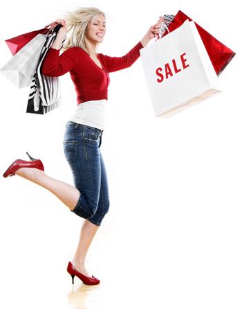 Покупки в период сезонных распродаж