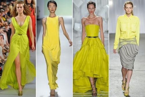Актуальный цвет лета 2012 – желтый