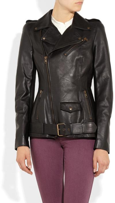 Модные кожаные куртки сезона осень 2012