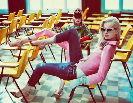 Самые модные джинсы осень 2012