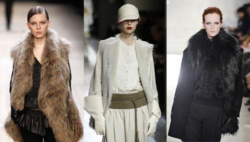 Как носить меховые жилеты этой осенью