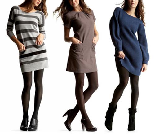Вязаные платья зима 2012/2013