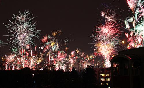 Новогодние фейерверки в городах Европы